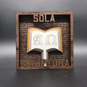 The Five Sola Set - Layered Art - The Reformed Sage - reformed - reformed gifts - christian gifts - christian hoodie - christian apparel - christian decor - christian art -