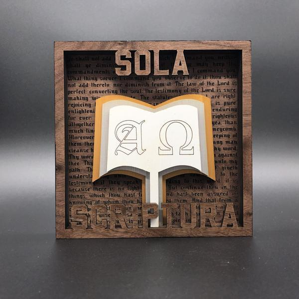 The Five Sola Set - Layered Art - The Reformed Sage - reformed