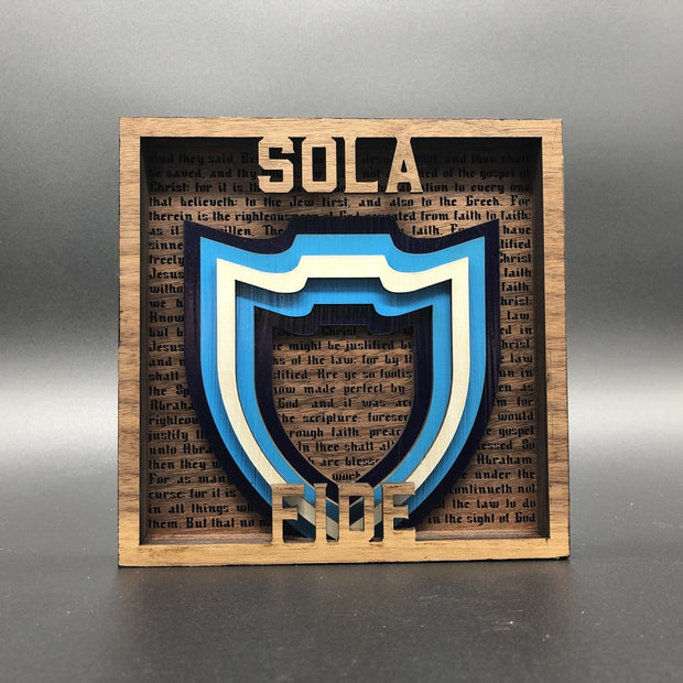 The Five Sola Set - Layered Art - The Reformed Sage - #reformed# - #reformed_gifts#
