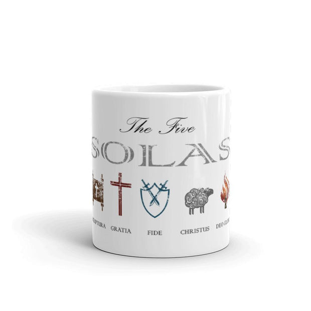 The Five Solas - Mug - Mug - The Reformed Sage - #reformed# - #reformed_gifts#