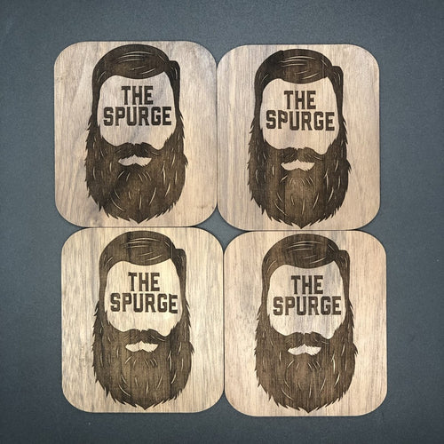 The Spurge - wood coaster - The Reformed Sage - reformed - reformed gifts - christian gifts - christian hoodie - christian apparel - christian decor - christian art -