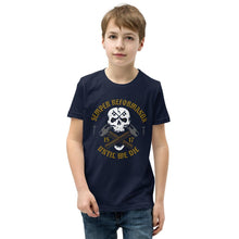 Load image into Gallery viewer, Until We Die - Youth T-Shirt - The Reformed Sage - reformed - reformed gifts - christian gifts - christian hoodie - christian apparel - christian decor - christian art -
