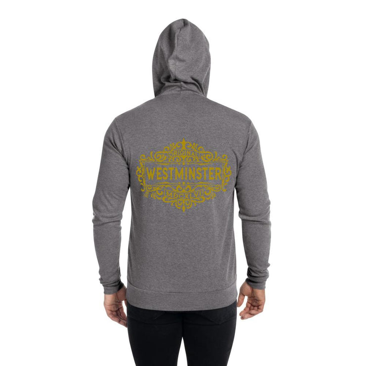 Westminster - Unisex zip hoodie - The Reformed Sage - reformed - reformed gifts - christian gifts - christian hoodie - christian apparel - christian decor - christian art -