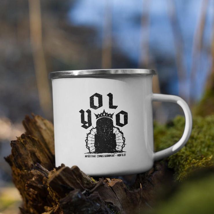 Y.O.L.O. - Enamel Mug - The Reformed Sage - reformed - reformed gifts - christian gifts - christian hoodie - christian apparel - christian decor - christian art -