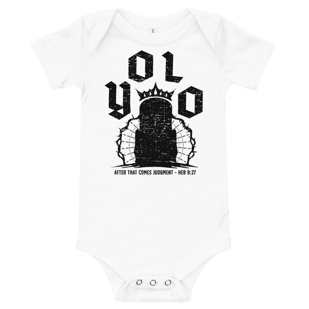 YOLO - onesie - The Reformed Sage - reformed - reformed gifts - christian gifts - christian hoodie - christian apparel - christian decor - christian art -