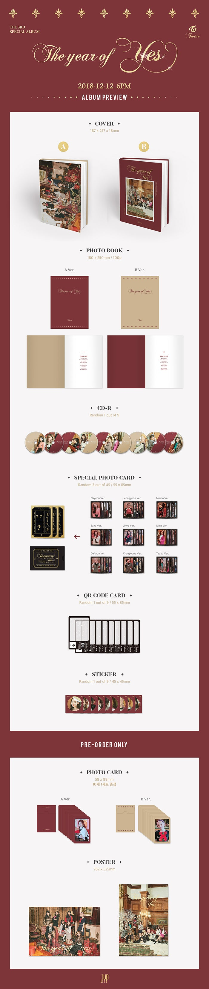 TWICE 3RD SPECIAL ALBUM 'THE YEAR OF YES' + POSTER