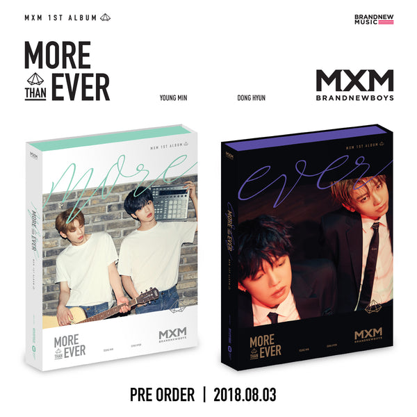 MXM BRAND NEW BOYS 1ST ALBUM 'MORE & EVER' + POSTER