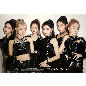 EVERGLOW 2ND MINI ALBUM '-77.82X-78.29' POSTER ONLY