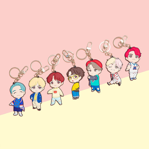 BTS 'HOUSE OF BTS CHARACTER KEYRING'
