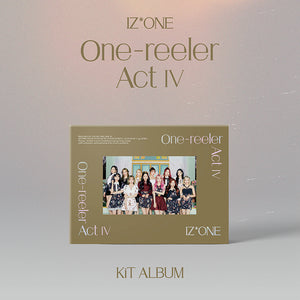 IZ*ONE 4TH MINI ALBUM 'ONE-REELER / ACT IV' KIHNO KIT