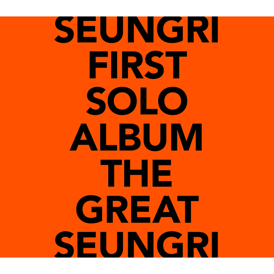 BIGBANG SEUNGRI 1ST SOLO ALBUM 'THE GREAT SEUNGRI' + POSTER