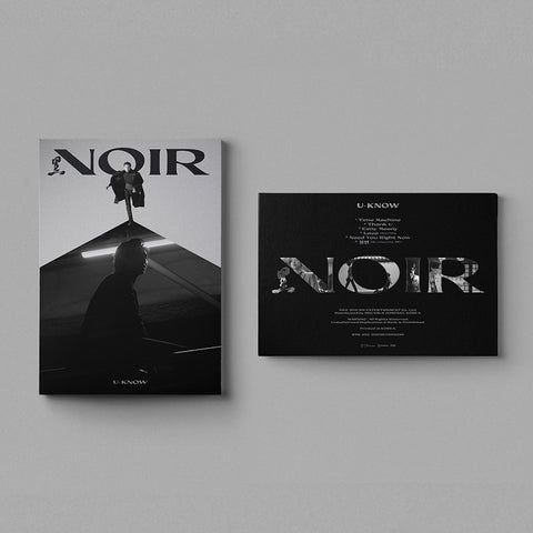U-KNOW (TVXQ) 2ND MINI ALBUM 'NOIR' + POSTER