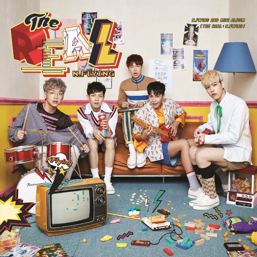 N.FLYING 2ND MINI ALBUM 'THE REAL: N.FLYING' + POSTER