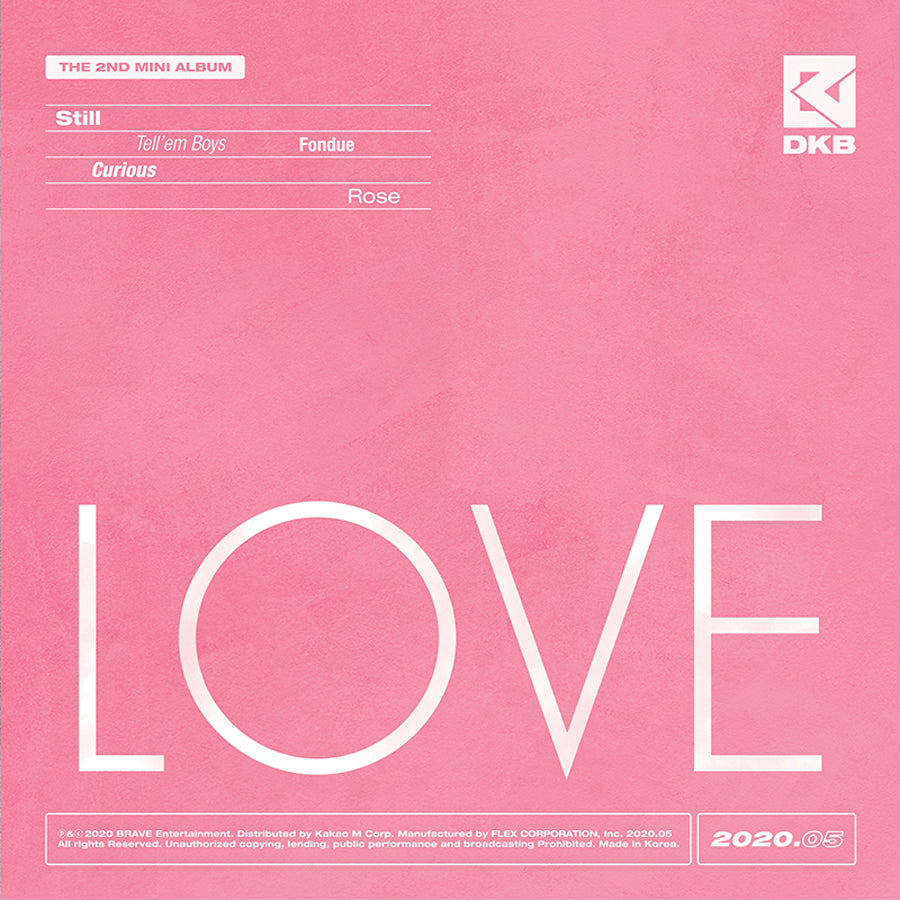 DKB 2ND MINI ALBUM 'LOVE'