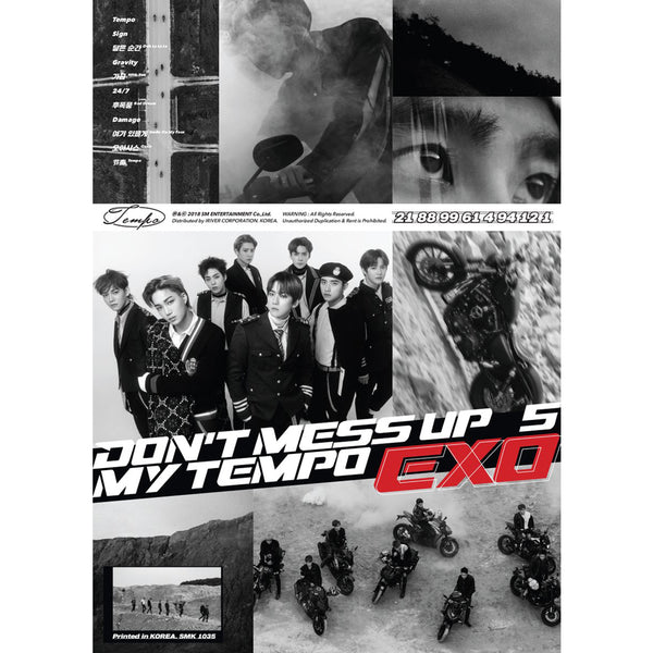 EXO 5TH ALBUM 'DON'T MESS UP MY TEMPO' POSTER ONLY