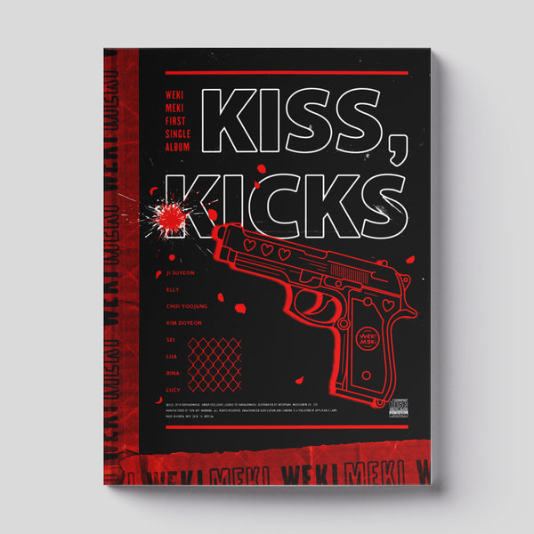 WEKI MEKI 1ST SINGLE ALBUM 'KISS, KICKS' + POSTER