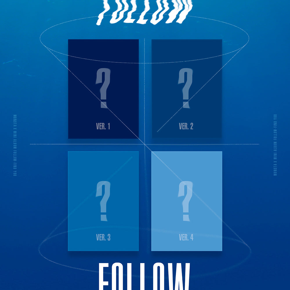 MONSTA X 7TH MINI ALBUM 'FOLLOW-FIND YOU' + POSTER