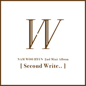 NAM WOO HYUN (INFINITE) 2ND MINI ALBUM 'SECOND WRITE..' + POSTER