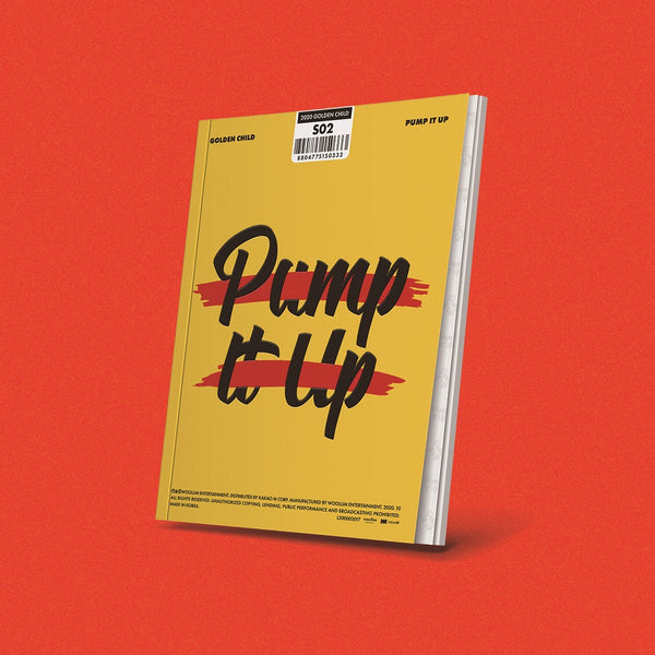 GOLDEN CHILD 2ND SINGLE ALBUM 'PUMP IT UP' + POSTER