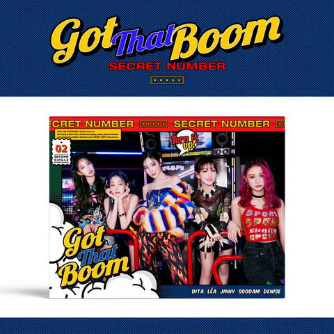SECRET NUMBER 2ND SINGLE ALBUM 'GOT THAT BOOM' + POSTER