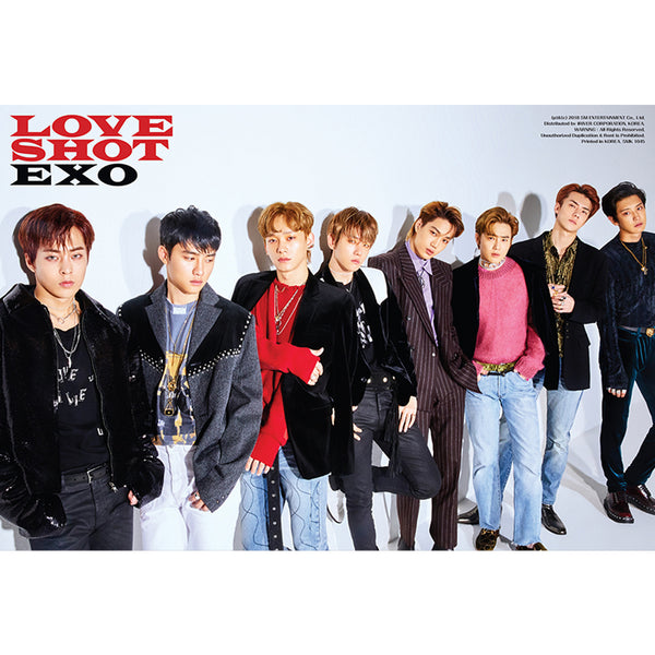 EXO 5TH ALBUM REPACKAGE 'LOVE SHOT' POSTER ONLY