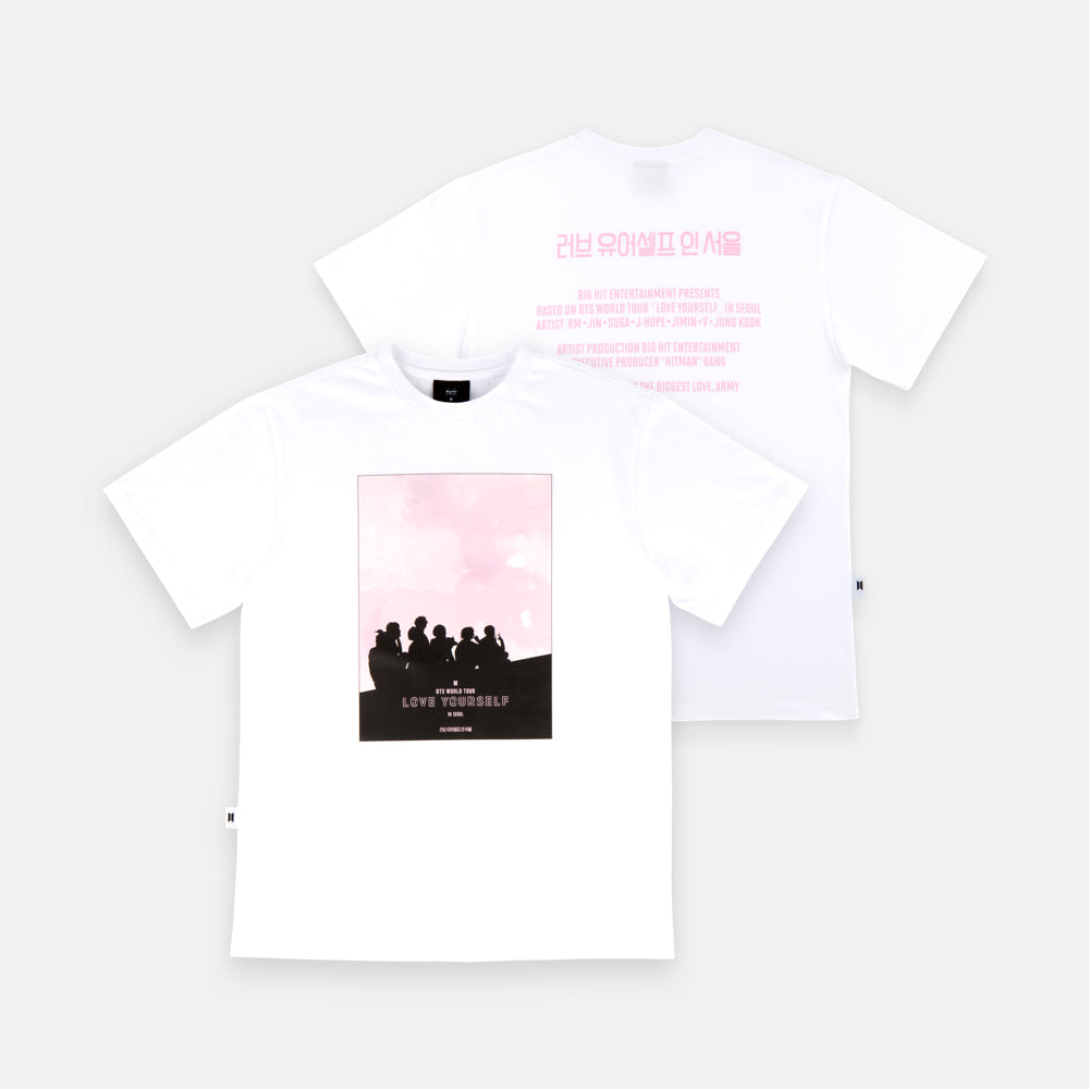 BTS 'LOVE YOURSELF IN SEOUL WORLD TOUR' OFFICIAL T-SHIRT (WHITE_SL)