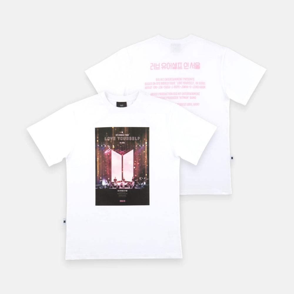BTS 'LOVE YOURSELF IN SEOUL WORLD TOUR' OFFICIAL T-SHIRT (WHITE_PT)