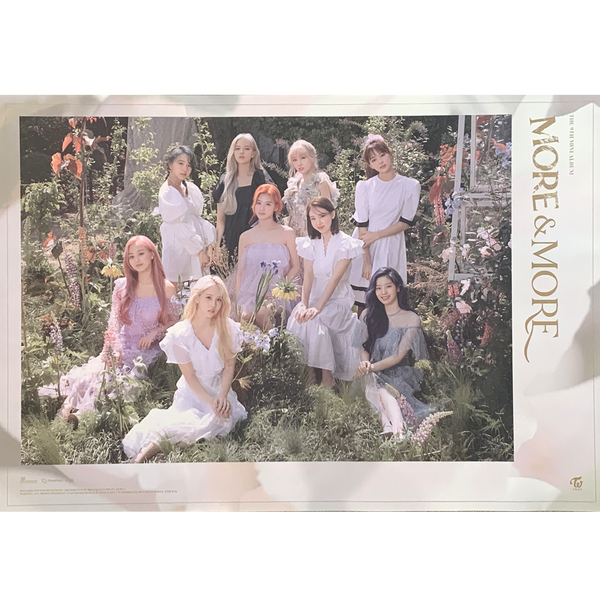 TWICE 9TH MINI ALBUM 'MORE & MORE' POSTER ONLY