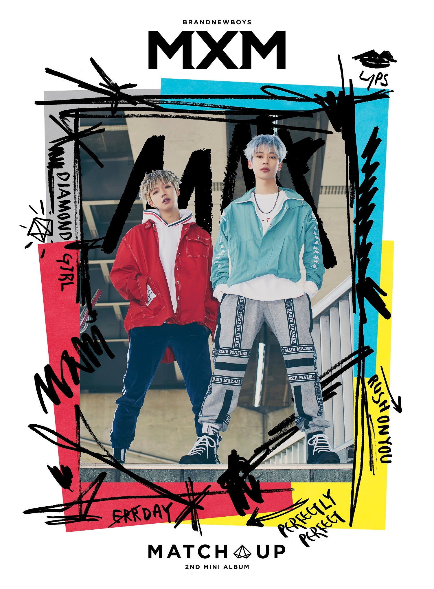 MXM (BRANDNEW BOYS) 2ND MINI ALBUM 'MATCH UP' + POSTER