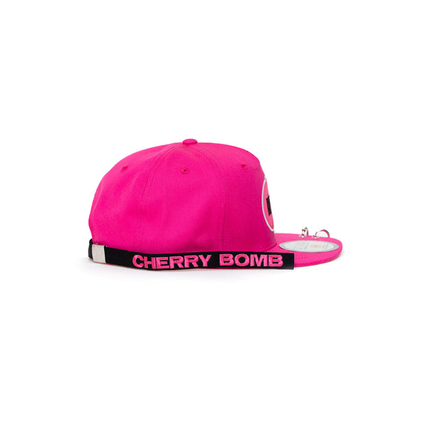 NCT 127 'CHERRY BOMB SNAPBACK HAT WITH LONG STRAP & RINGS'