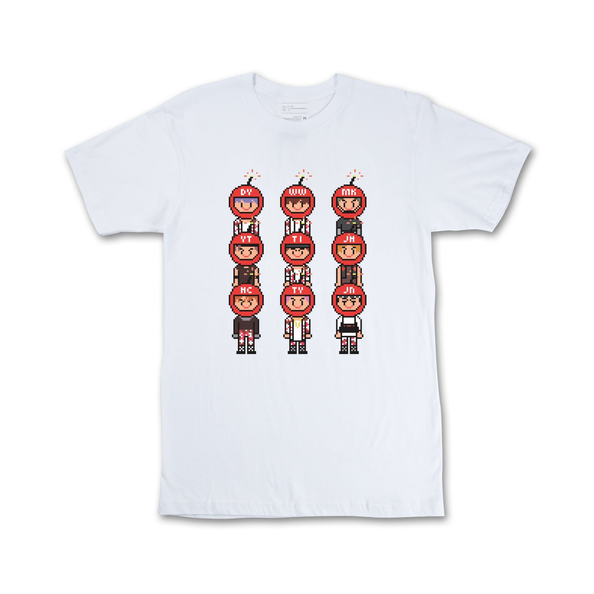 NCT 127 'OFFICIAL CHERRY BOMB PIXEL T-SHIRT'