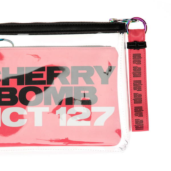 NCT 127 'OFFICIAL CHERRY BOMB CLUTCH WITH MAKEUP BAG & KEYCHAIN'