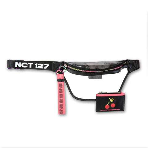 NCT 127 'OFFICIAL CHERRY BOMB FANNY PACK WITH CARD WALLET & KEYCHAIN'