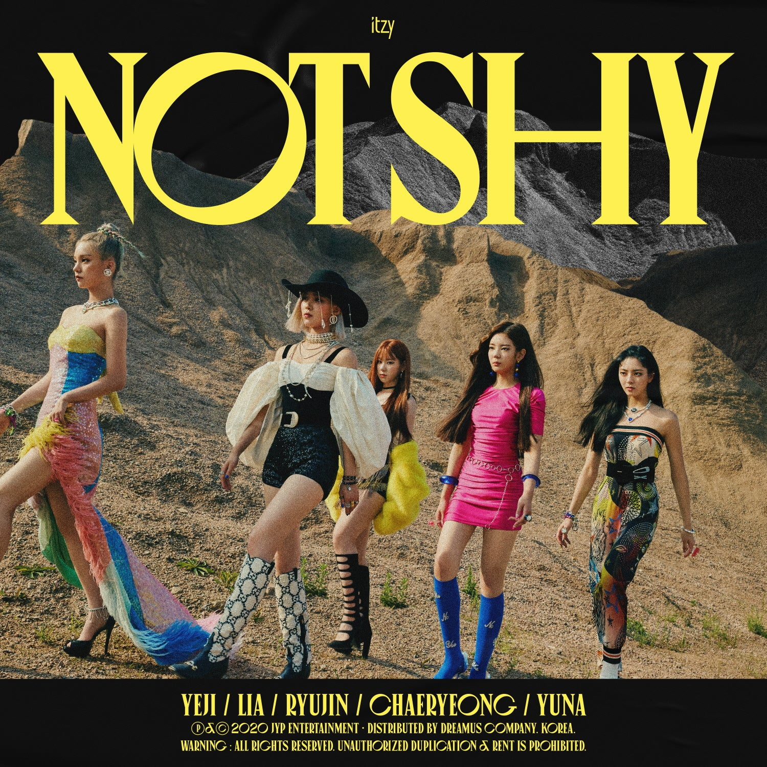 ITZY ALBUM 'NOT SHY' + POSTER