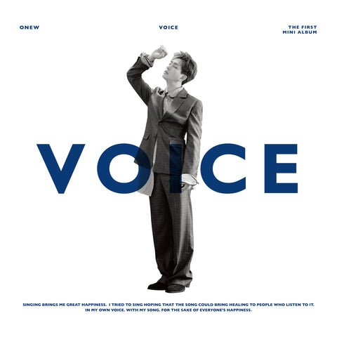 ONEW (SHINEE) 1ST MINI ALBUM 'VOICE' + POSTER
