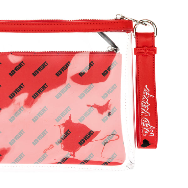 RED VELVET 'OFFICIAL BAD BOY CLUTCH WITH MAKEUP BAG & KEYCHAIN'