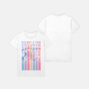 BTS 'SPEAK YOURSELF WORLD TOUR' OFFICIAL T-SHIRT (PASTEL RAINBOW_WHITE)