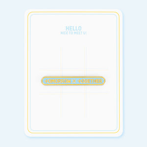TOMORROW X TOGETHER (TXT) OFFICIAL DEBUT MD TOMORROW X TOGETHER BADGE