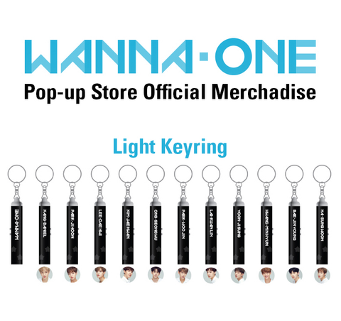 WANNA ONE LIGHT KEY RING