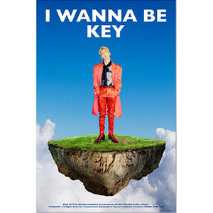 KEY (SHINEE) 1ST ALBUM REPACKAGE 'I WANNA BE' POSTER ONLY