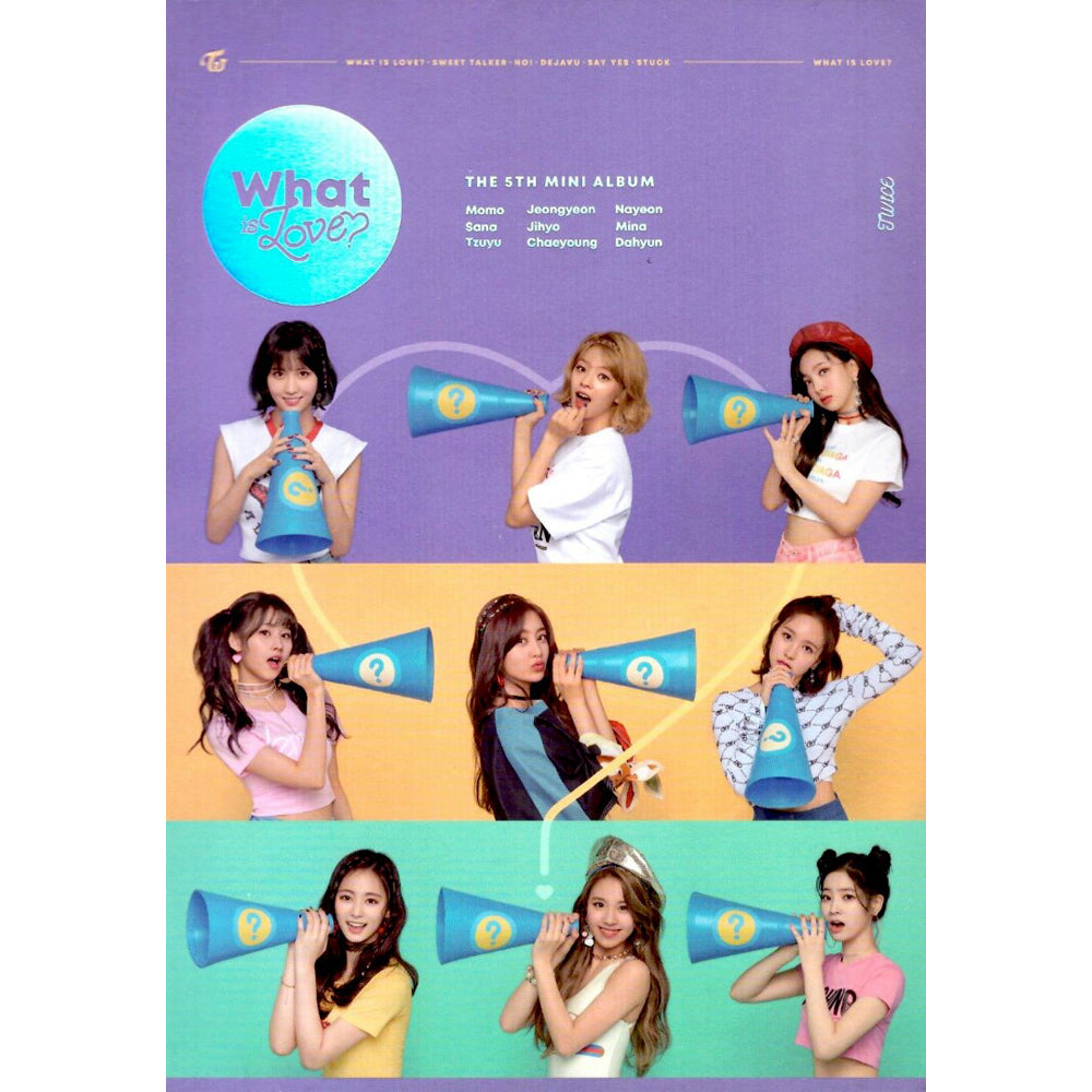 TWICE 5TH MINI ALBUM 'WHAT IS LOVE?' POSTER ONLY
