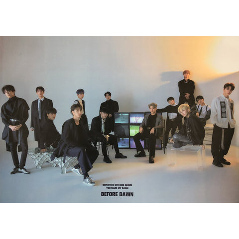 SEVENTEEN 6TH MINI ALBUM 'YOU MADE MY DAWN' POSTER ONLY