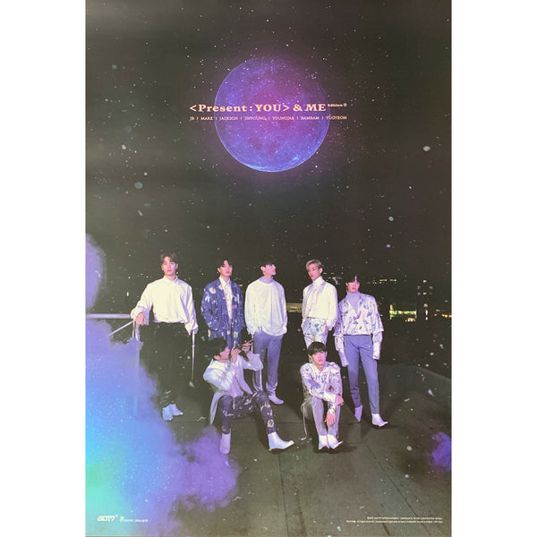 GOT7 3RD ALBUM REPACKAGE 'PRESENT : YOU & ME EDITION' POSTER ONLY