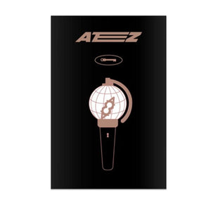 ATEEZ OFFICIAL LIGHT STICK CASE METAL BADGE