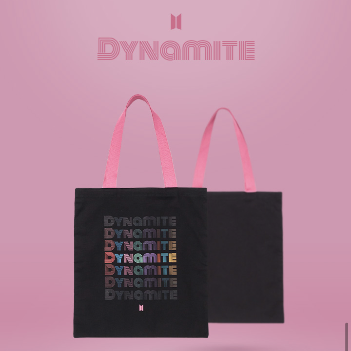 BTS OFFICIAL 'DYNAMITE CANVAS BAG'