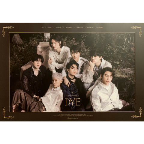 GOT7 MINI ALBUM 'DYE' POSTER ONLY