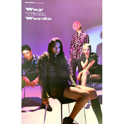KARD 1ST SINGLE ALBUM 'WAY WITH WORDS' POSTER ONLY