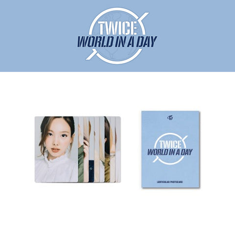 TWICE '2020 WORLD IN A DAY LENTICULAR PHOTO CARD'