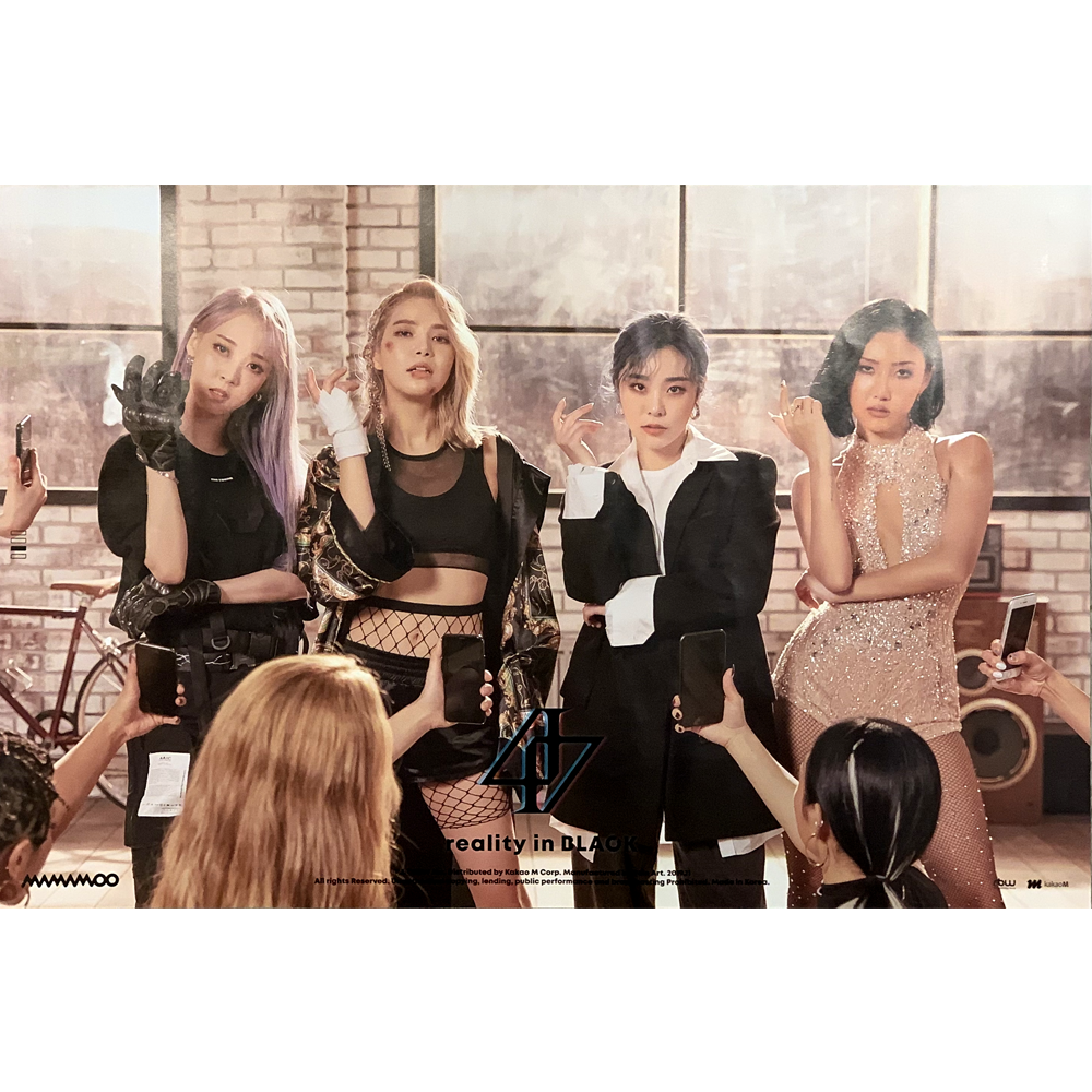 MAMAMOO 2ND ALBUM 'REALITY IN BLACK' POSTER ONLY