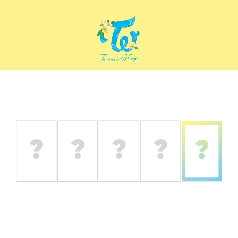 TWICE 'TWAII'S SHOP OFFICIAL TRADING CARD'